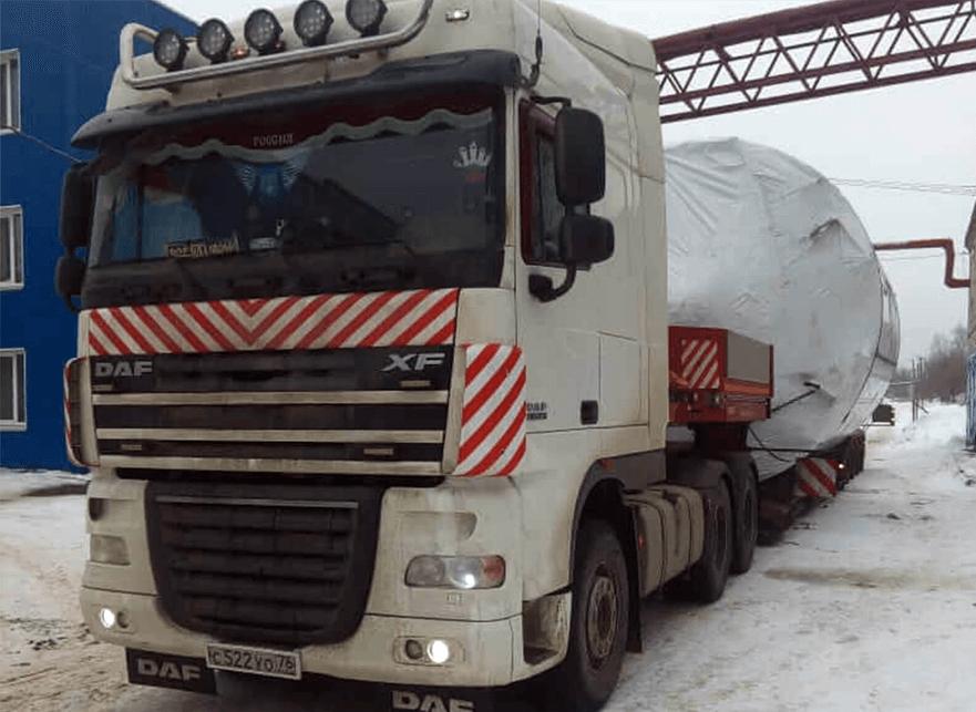Что перевозили: Перевозка емкости диаметром 4,6 метра, в г. Москва