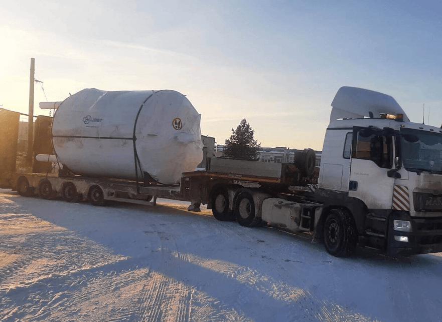 Что перевозили: Перевозка емкости диаметром 3,6 метра в г. Москва