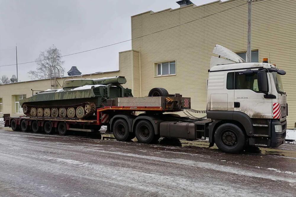 Что перевозили: Перевозка танка в военный музей г. Тюмени