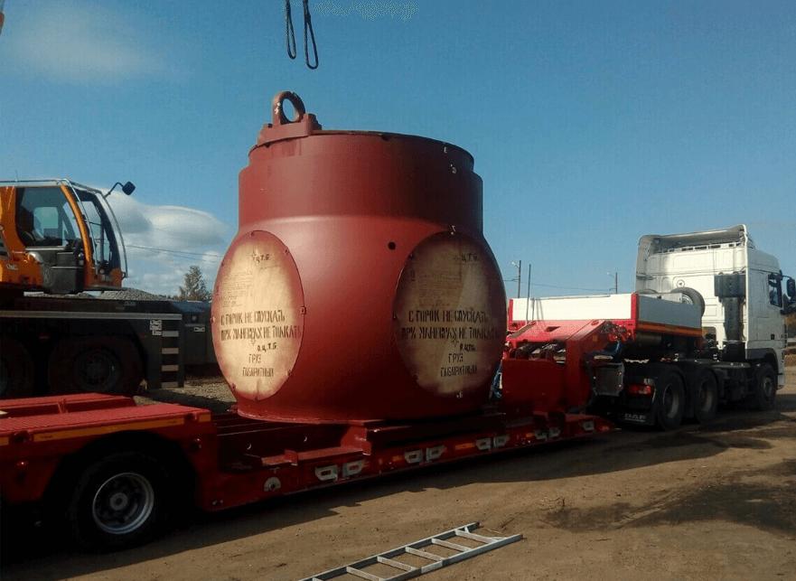 Что перевозили: Транспортировка технологического оборудования, весом 70 тонн для завода ПАО ОДК «Сатурн»