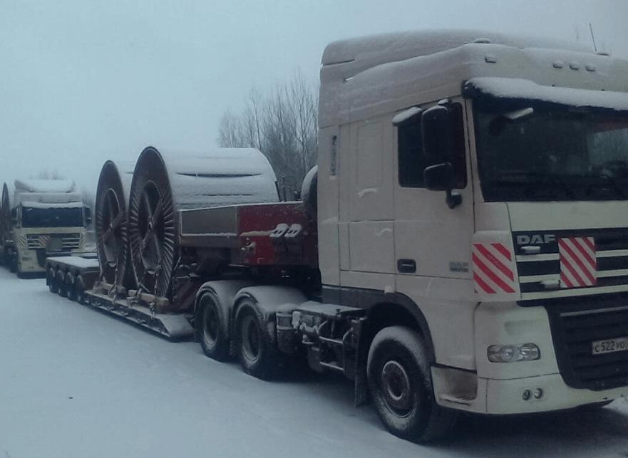 Что перевозили: Перевозка катушек с кабелем с ООО «Рыбинсккабель» в Санкт Петербург