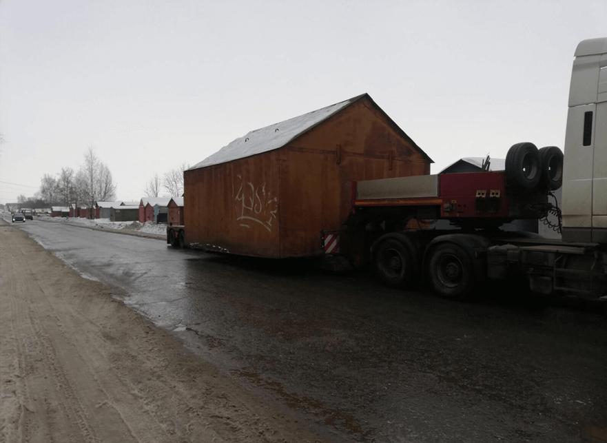 Что перевозили: Перевозка гаража шириной 5,2 м по городу Ярославлю