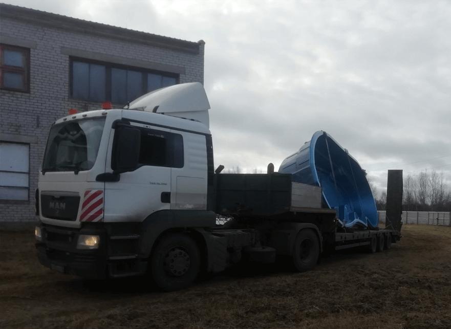 Что перевозили: Перевозка бассейна в г. Подольск