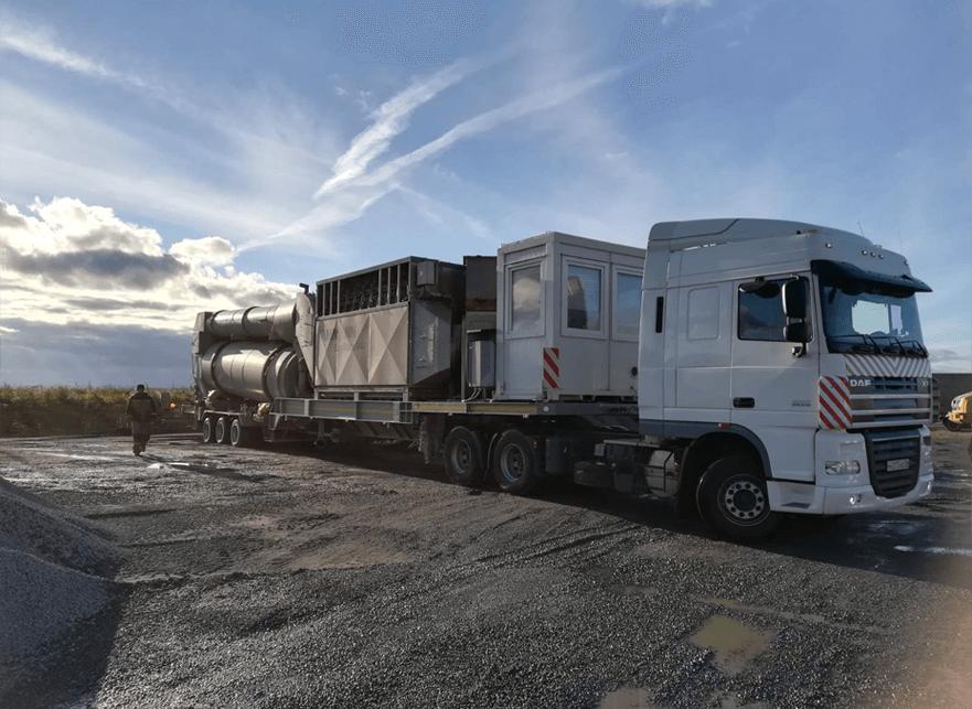 Что перевозили: Перебазировка Асфальтобетонного завода