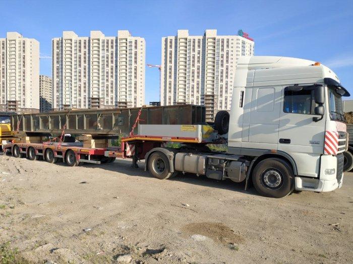 Маршрут: г. Москва - г. Северодвинск Что перевозили: Балка 14 м Вес: 32 тонны